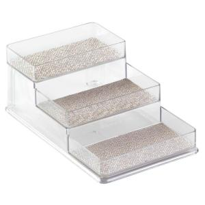 Twillo 3-Tier Stadium Spice Rack in Metallico/Clear