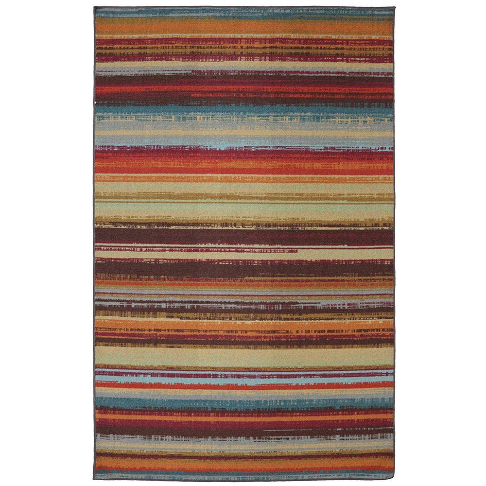 Avenue Stripe 5 ft. x 8 ft. Indoor/Outdoor Printed Patio Area Rug