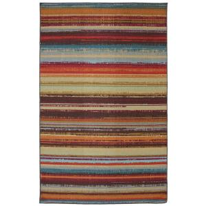 Mohawk Home Avenue Stripe 5 ft. x 8 ft. Indoor/Outdoor Printed Patio Area Rug by Mohawk Home