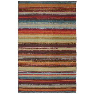 Avenue Stripe 5 ft. x 8 ft. Indoor/Outdoor Printed Patio Area Rug