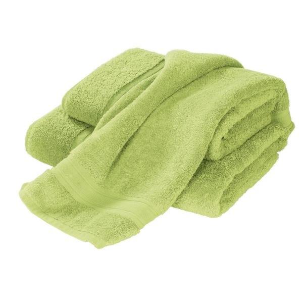 The Company Store Turkish Cotton Fingertip Towel in Field Green (Set