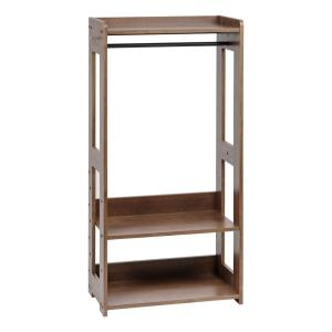 Brown Wood Clothes Rack (13 in. W x 47 in. H)