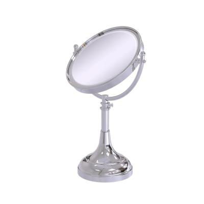 23 in. x 8 in. Vanity Top Makeup Mirror 5x Magnification in Polished Chrome