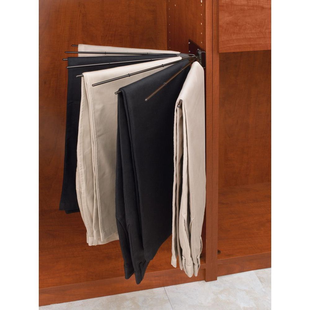 16.13 in. x 2.25 in. Oil Rubbed Bronze Static Wire Fan Pants Garment Rack