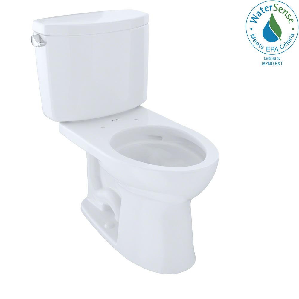 Groovy Toto Drake Ii 2 Piece 1 28 Gpf Single Flush Elongated Toilet With Cefiontect In Cotton White Alphanode Cool Chair Designs And Ideas Alphanodeonline