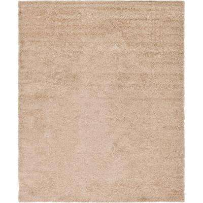 Solid Shag Taupe 12 ft. x 15 ft. Area Rug