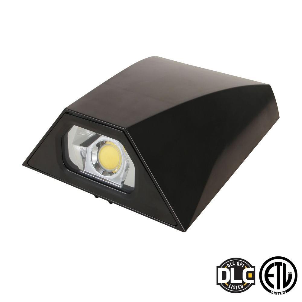 40-Watt Bronze Mini LED Outdoor Wall Pack Natural Light (5000K)