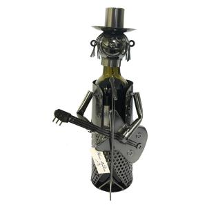 Click here to buy  1-Bottle Guitar Player Wine Rack.