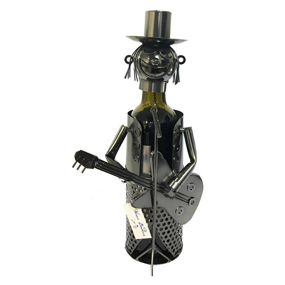 1-Bottle Guitar Player Wine Rack
