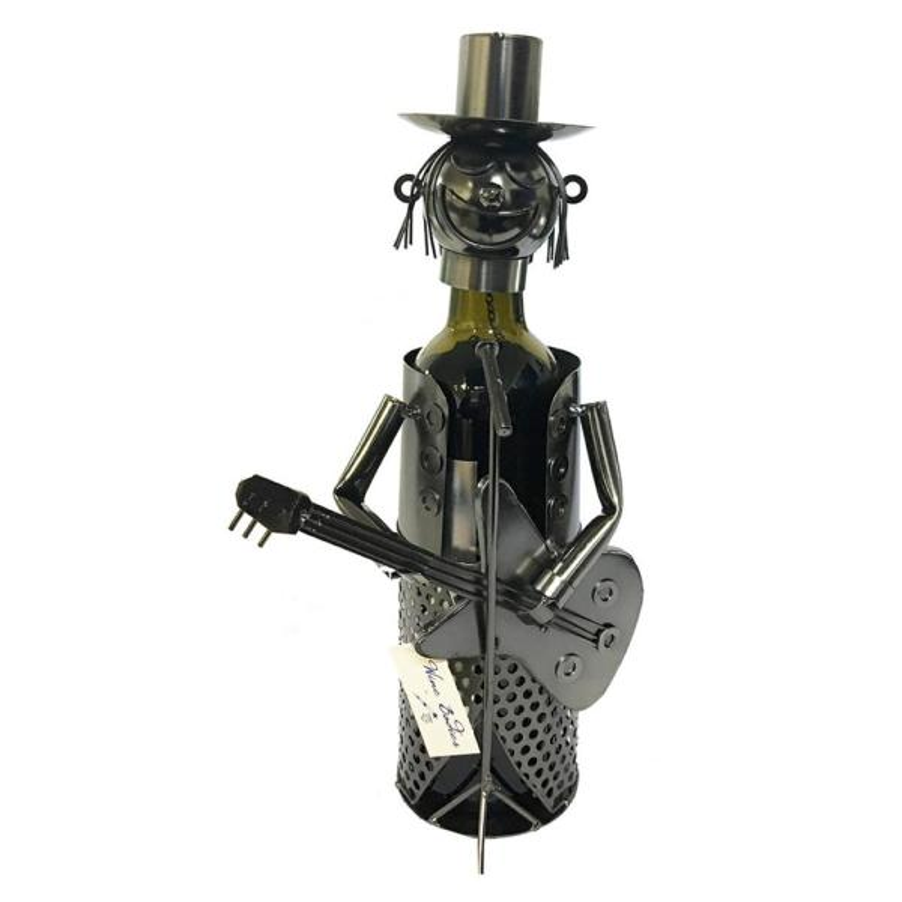 1-Bottle Guitar Player Wine Rack ZB500