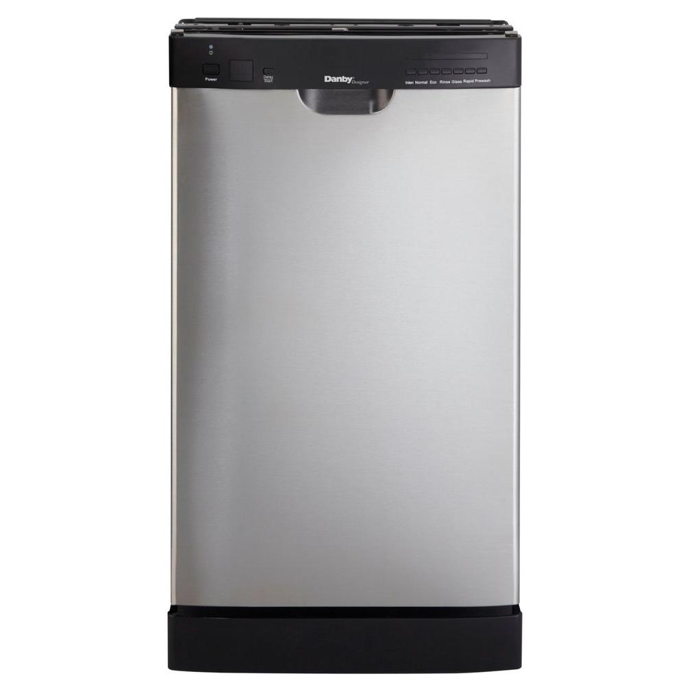 Danby 18 in. Front Control Dishwasher in Stainless Steel-DISCONTINUED