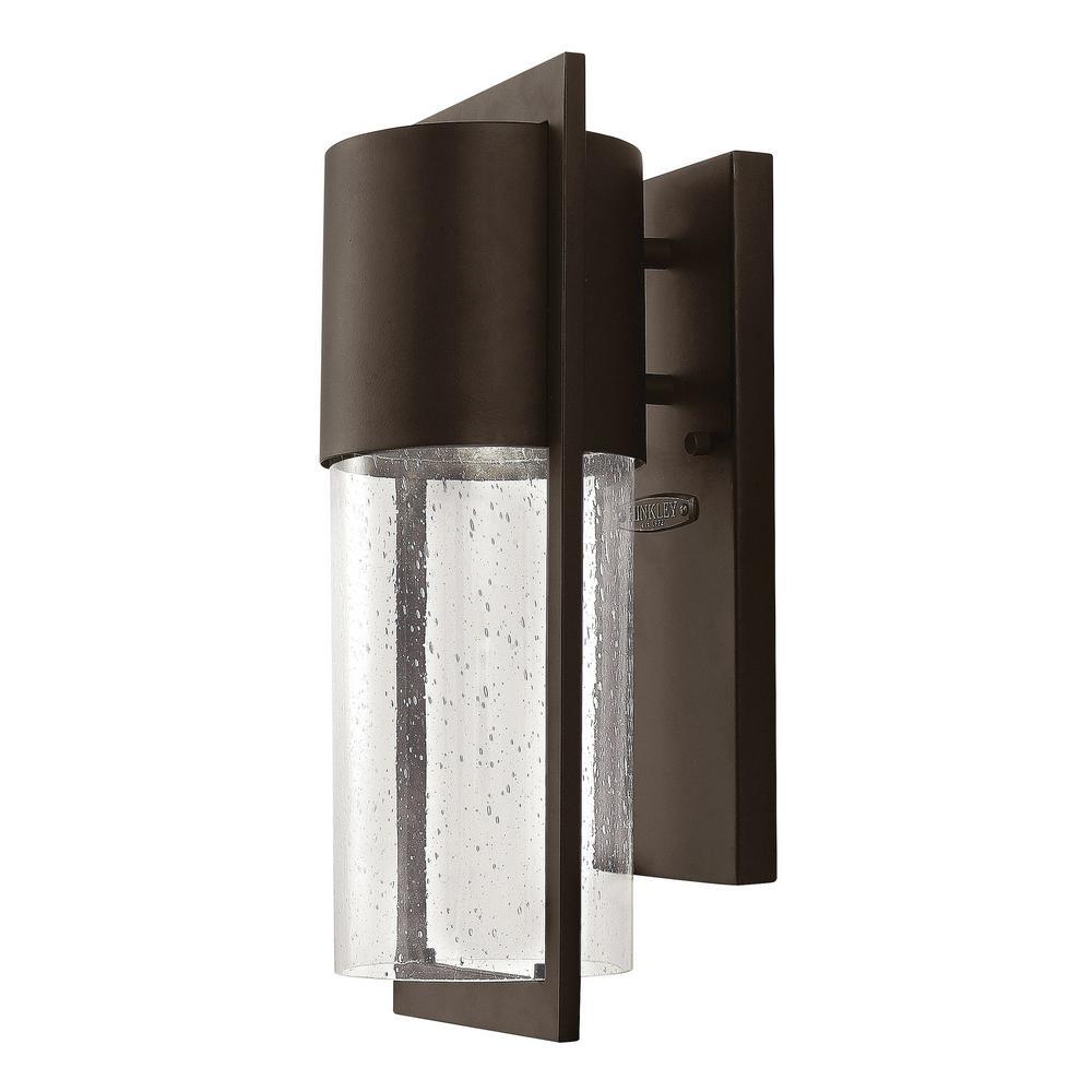 Shelter 1-Light Buckeye Bronze Outdoor Wall Lantern Sconce