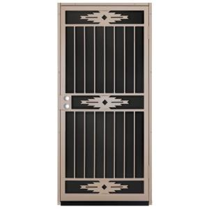 Pima Tan Surface Mount Outswing Steel Security Door With. Unique Home  Designs ...