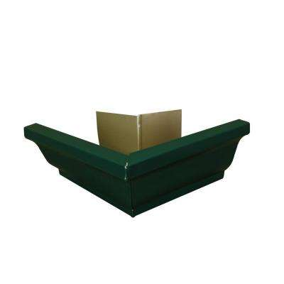 6 in. Grecian Green Aluminum Outside Gutter Mitre Box