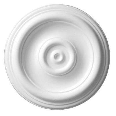 12 in. x 1-1/8 in. Plain Polyurethane Ceiling Medallion