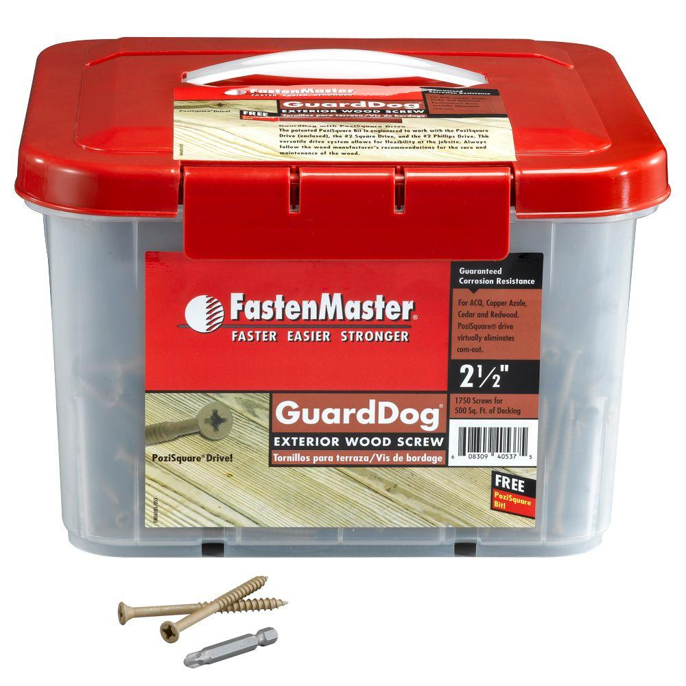 FastenMaster Guard Dog 2-1/2 in. Wood Screw (1750 per Pack)