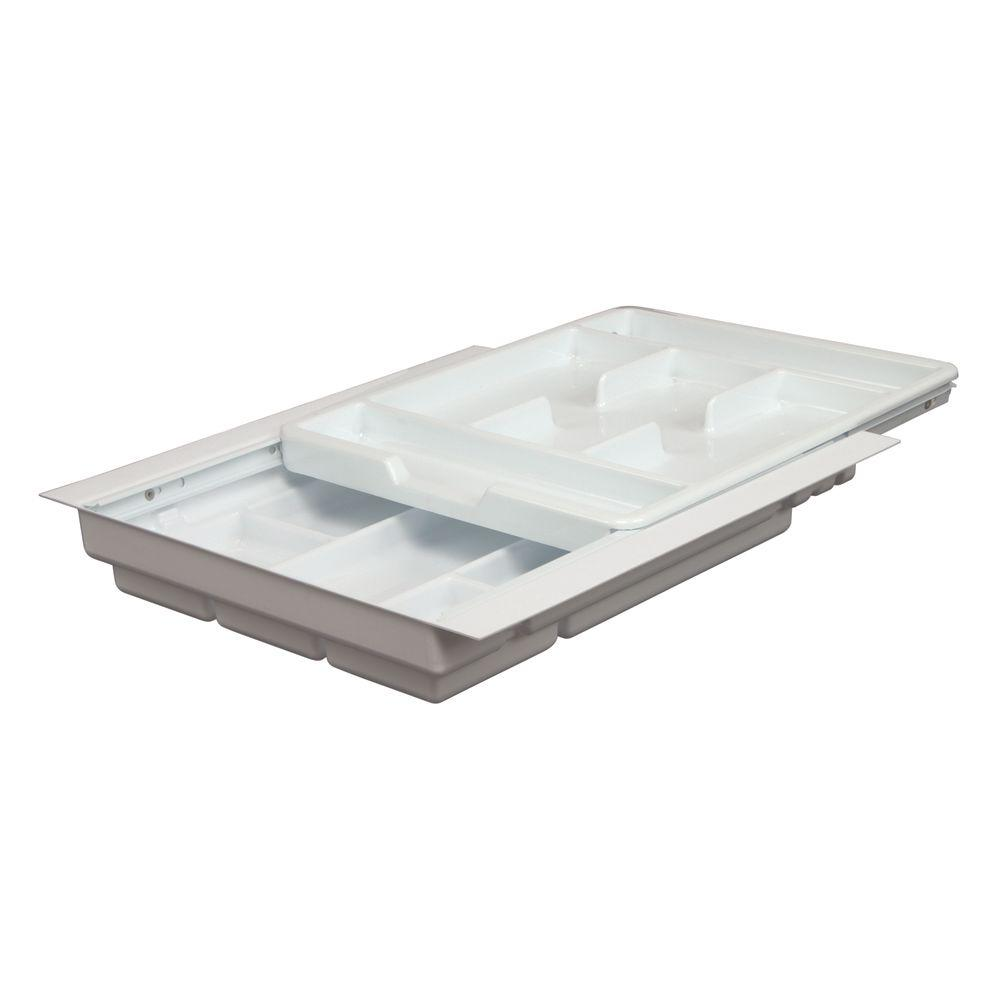 Knape & Vogt 3.5 in. x 17.75 in. x 19.25 in. Economy Double Tiered Tableware Drawer Organizer