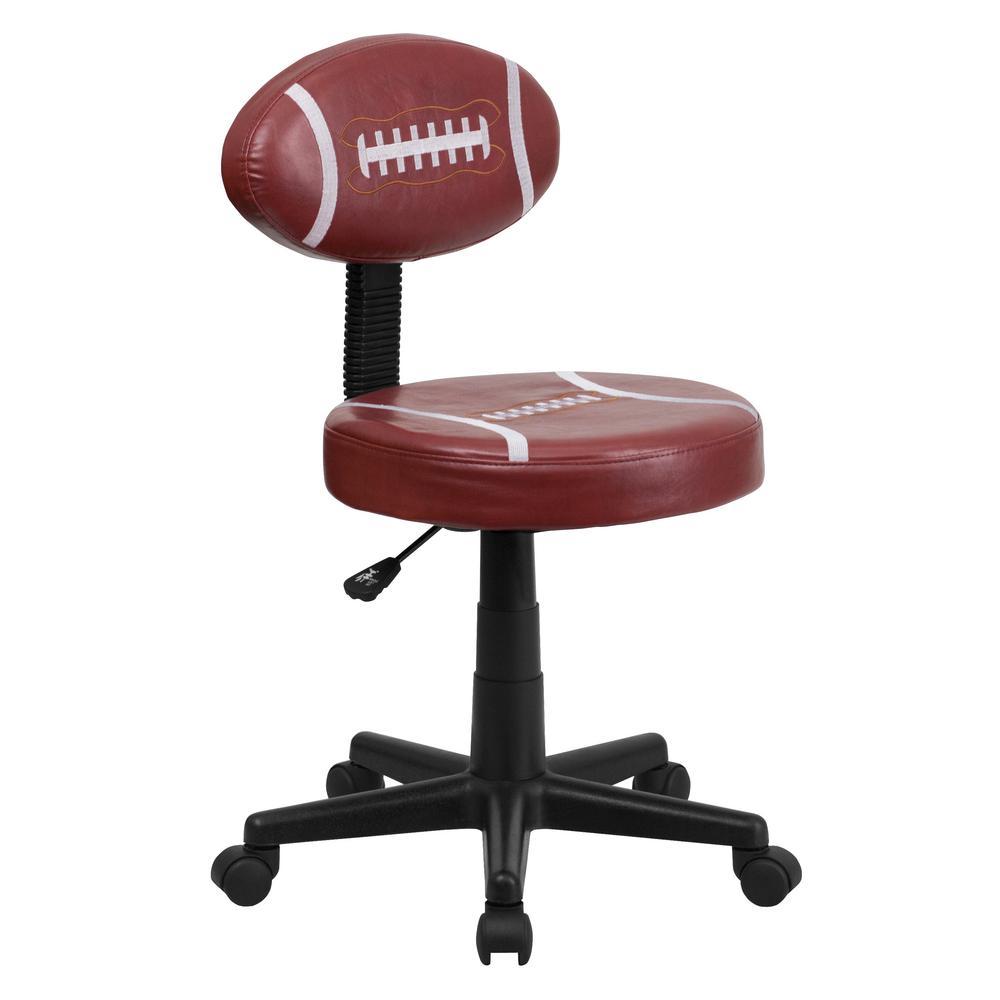 Gentil Flash Furniture Football Brown Task Chair