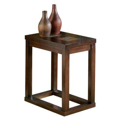 Alberto Brown Oak Chairside End Table