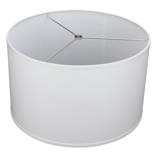 18 in. Top Diameter x 18 in. Bottom Diameter x 11 in. H Linen White Drum Lamp Shade