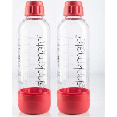 0.5 L Carbonating Water Machine Bottles in Red