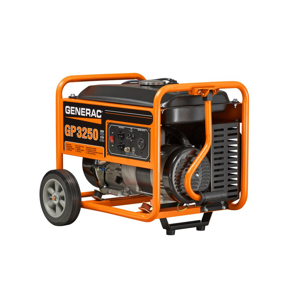 Generac 3,250-Watt Gasoline Powered Portable Generator