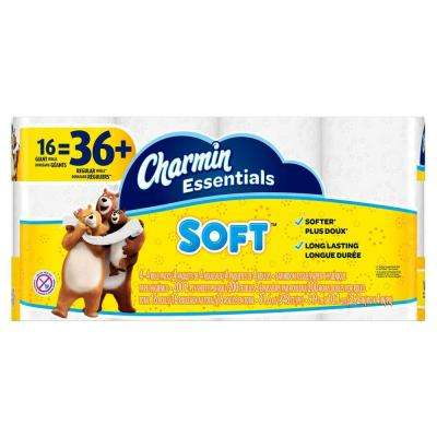Essentials Soft Toilet Paper (16 Giant Rolls)