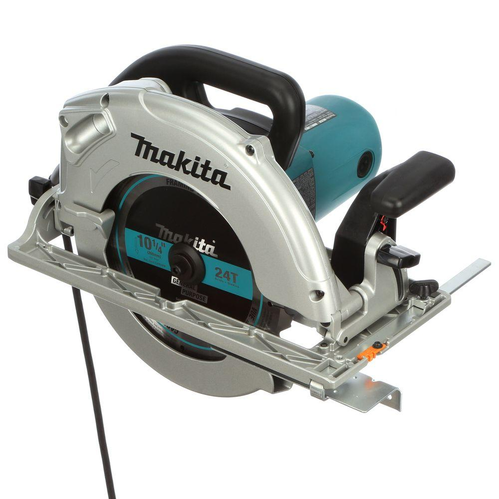 Makita 14 amp 10 14 in corded circular saw with electric brake and corded circular saw with electric brake and 24t carbide blade 5104 the home depot greentooth Gallery