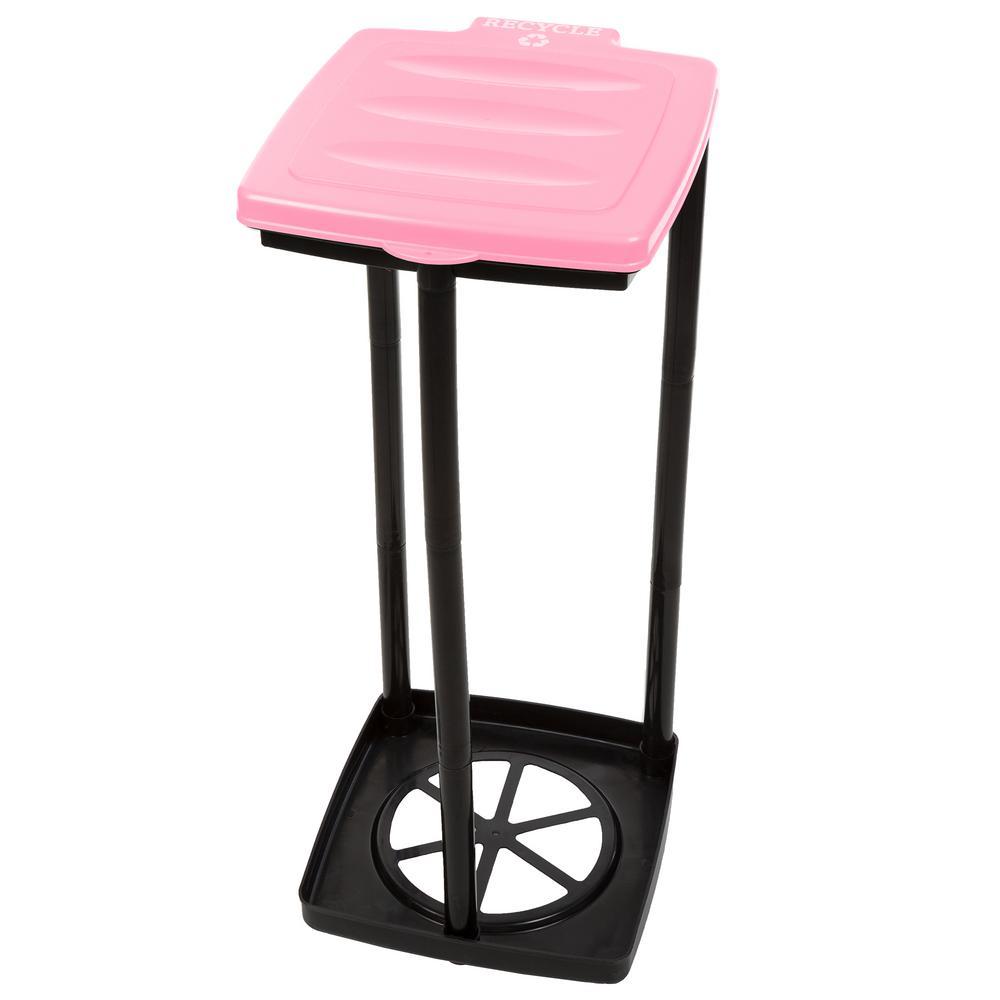 13 Gal. Pink Portable Garbage Trash Bag Holder