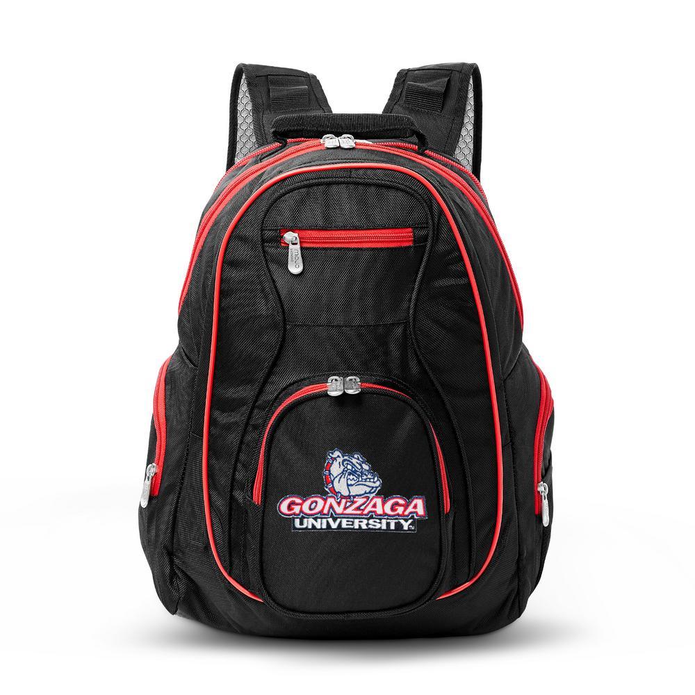 NCAA Gonzaga University Bulldogs 19 in. Black Trim Color Laptop Backpack