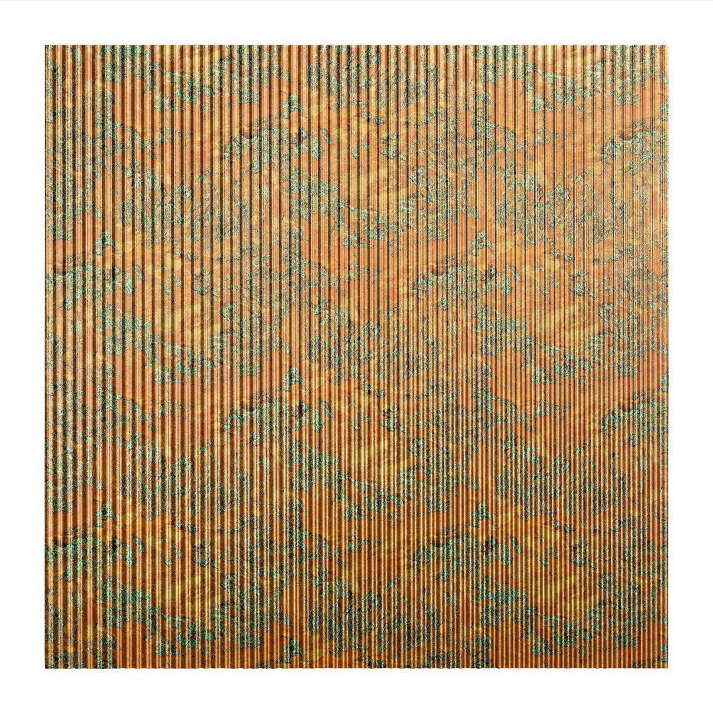 Fasade Rib - 2 ft. x 2 ft. Lay-in Ceiling Tile in Copper Fantasy