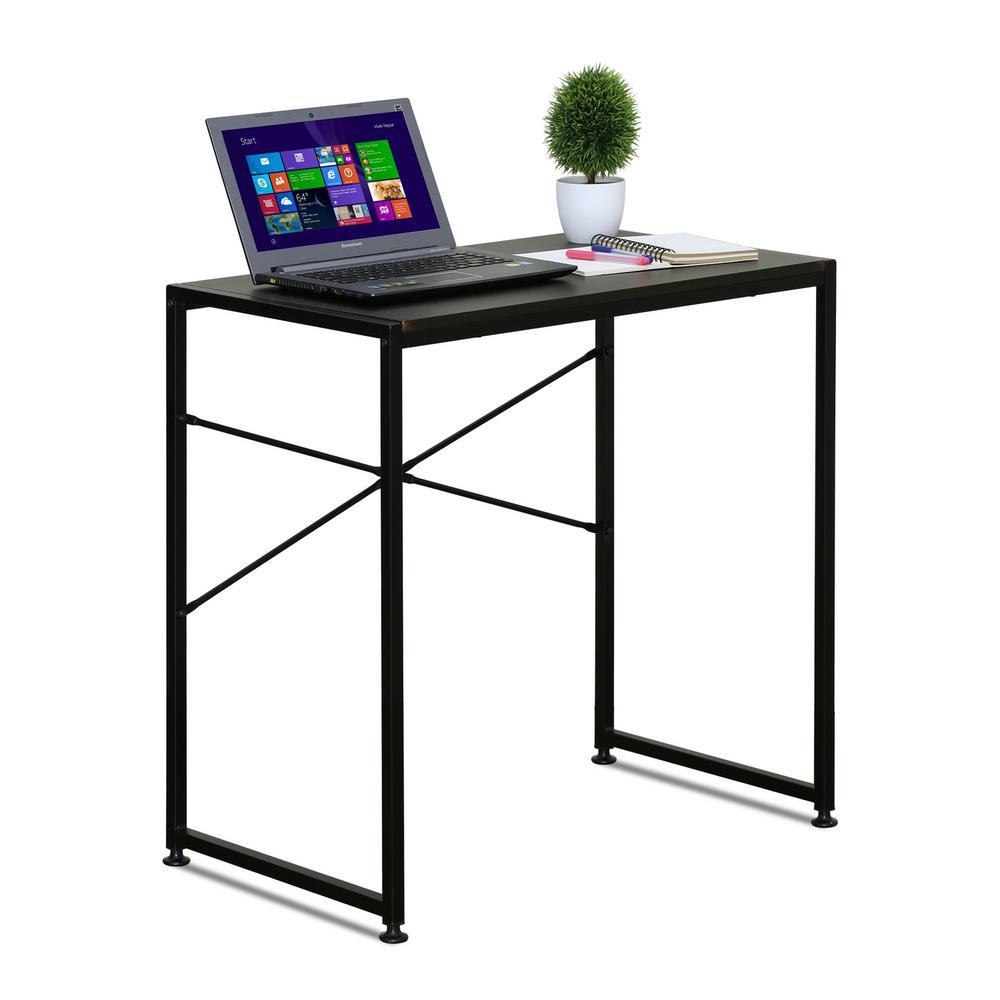 Furinno Besi Espresso Metal Frame Desk-FCG149EX - The Home Depot