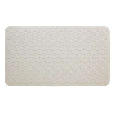 15 in. x 27 in. Large Rubber Safety Bath Mat with Microban in Tan