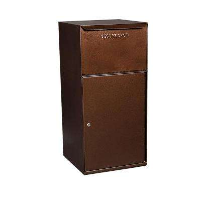 Mailboxes Secure Collection Unit with Front Access and Tote Delivery Vault in Copper Vein