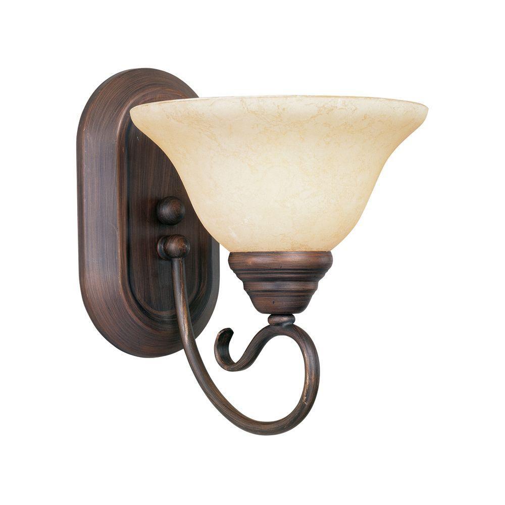 Providence 1-Light Imperial Bronze Incandescent Bath Vanity Light