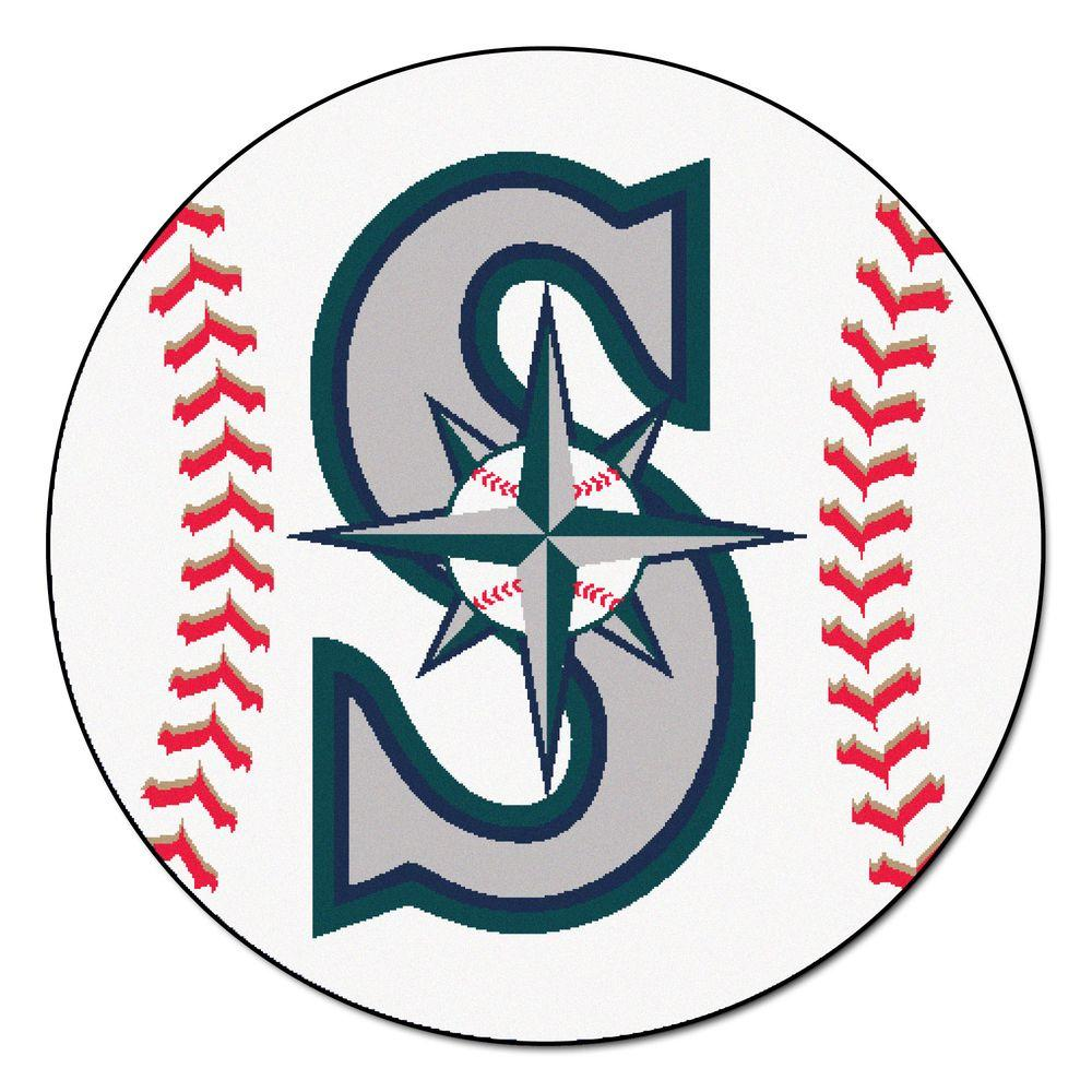 Fanmats Mlb Seattle Mariners White 2 Ft 3 In X 2 Ft 3
