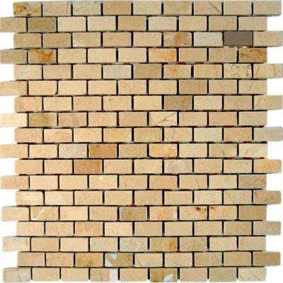 Crema Marfil Bricks 12 in. x 12 in. x 8 mm Marble Floor and Wall Tile