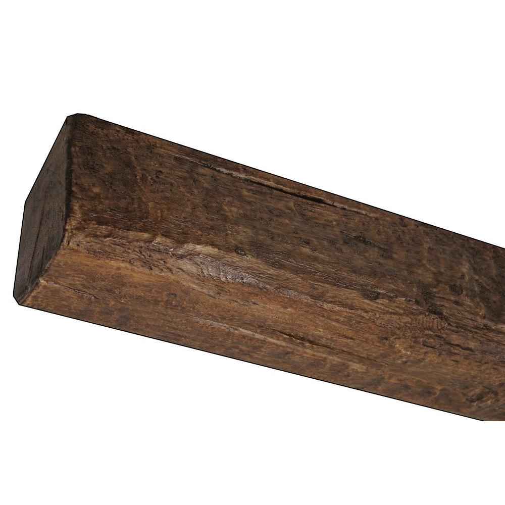 Superior Building Supplies 7-3/4 in. x 6-1/8 in. x 14 ft. 9 in. Faux Wood Beam