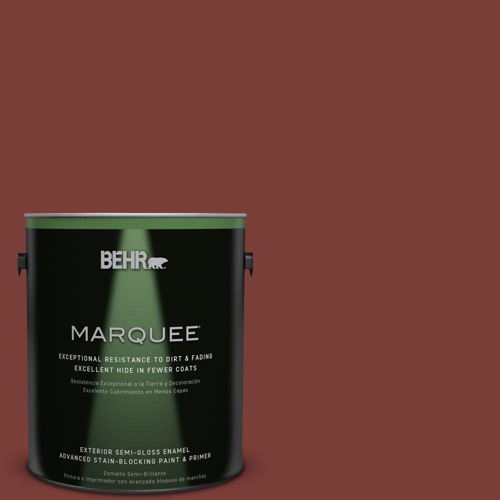 BEHR MARQUEE 1-gal. #ECC-36-3 Red Bluff Semi-Gloss Enamel Exterior Paint