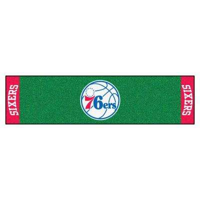 NBA Philadelphia 76ers 1 ft. 6 in. x 6 ft. Indoor 1-Hole Golf Practice Putting Green