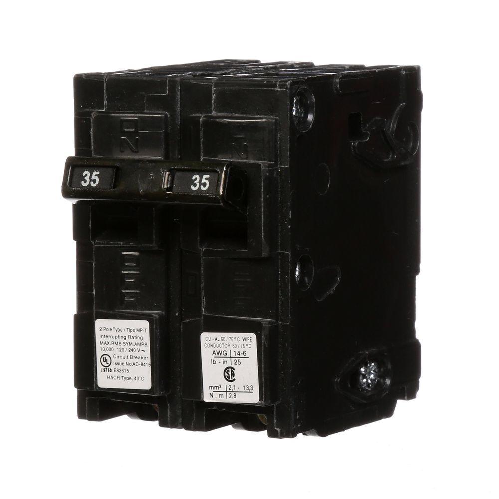 35 Amp Double-Pole Type MP Circuit Breaker