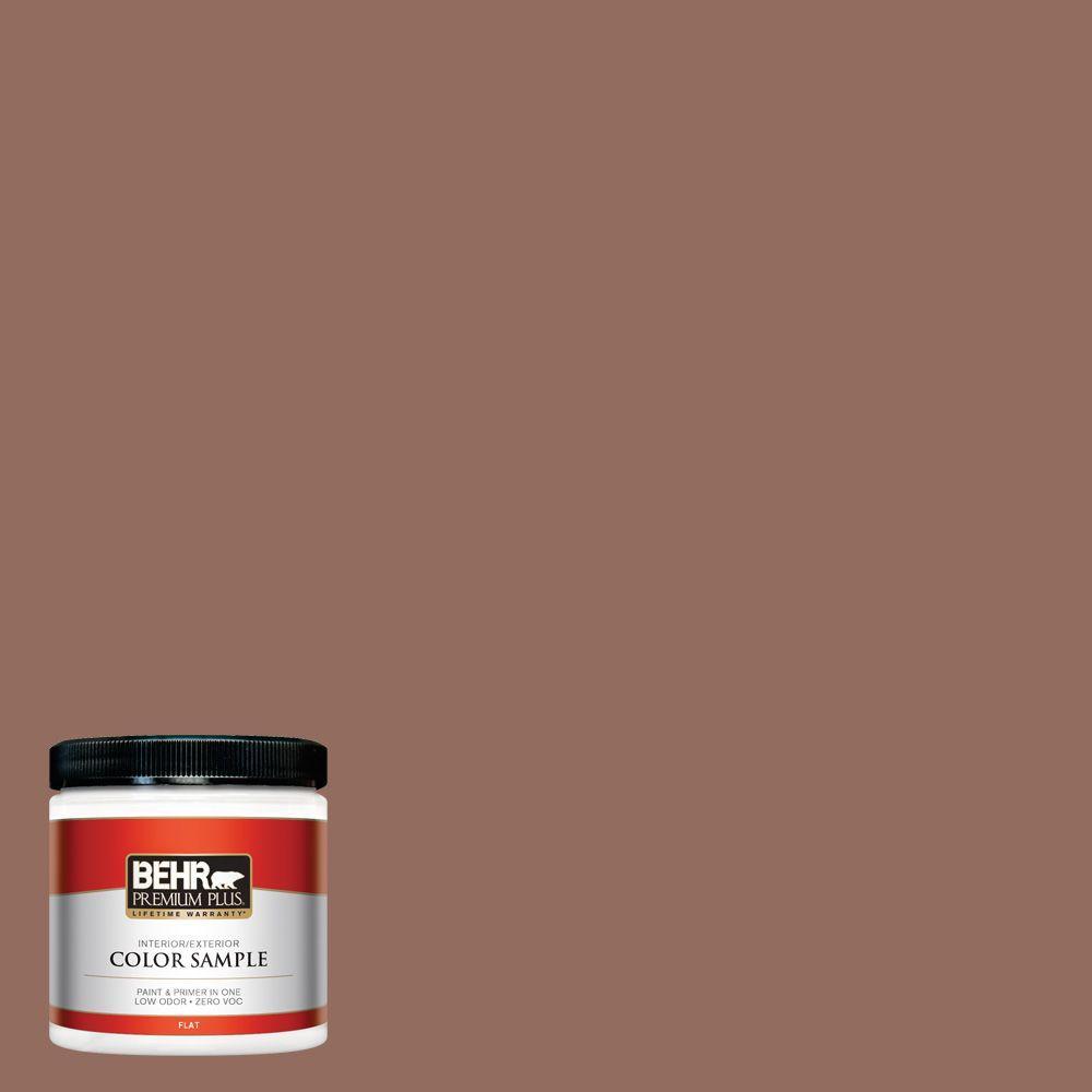 BEHR Premium Plus 8 oz. #220F-6 Chocolate Curl Interior/Exterior Paint Sample