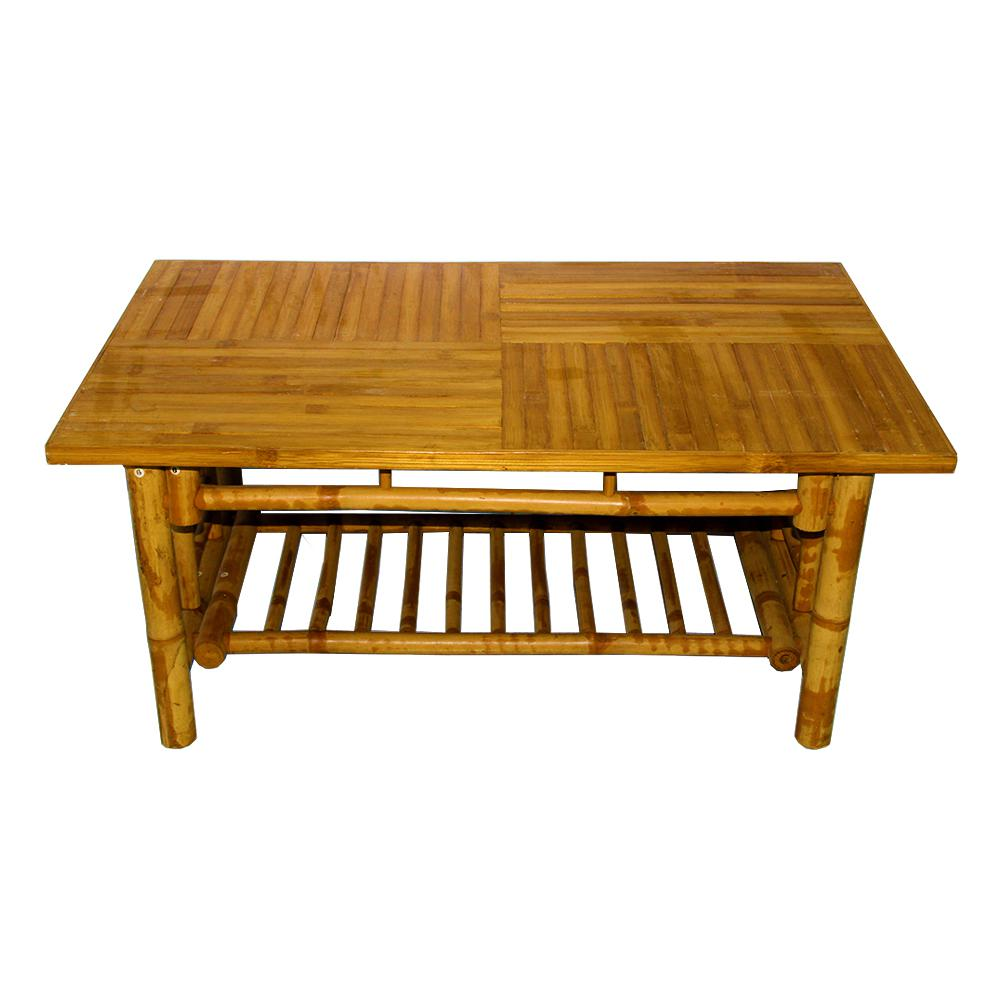 Mgp Natural Lacquer Finish Bamboo Coffee Table