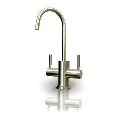 Westbrook 2-Handle Instant Hot and Cold Reverse Osmosis Drinking Water Dispenser Faucet in Brushed Nickel