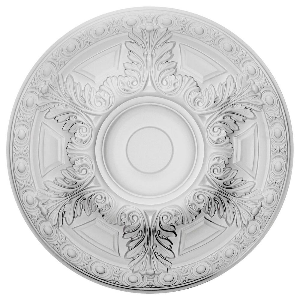 Ekena Millwork 23-1/2 in. x 2-3/4 in. Granada Urethane Ceiling Medallion (Fits Canopies upto 7-1/8 in.) Hand-Painted Rubbed Bronze
