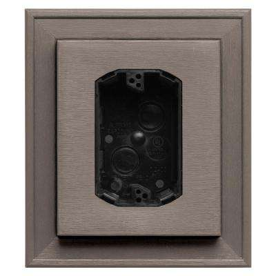 7 in. x 8 in. #008 Clay Electrical Mounting Block