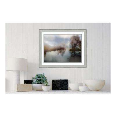 30.88 in. W x 24.88 in. H Lake Sunrise by Neil German Printed Framed Wall Art