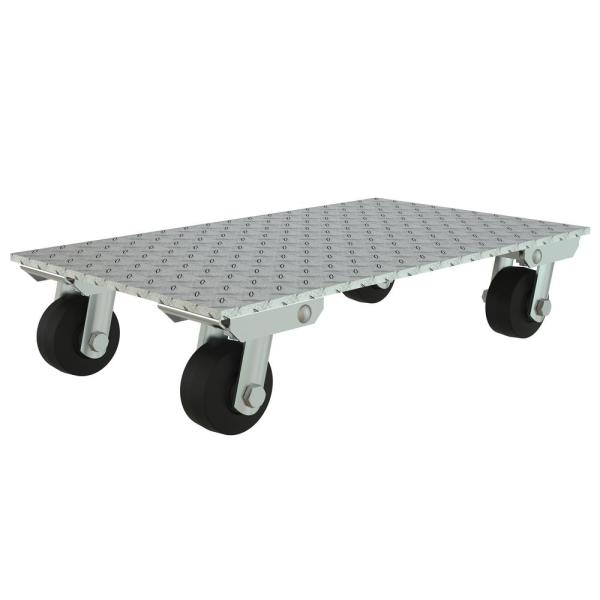 Vestil 16 In X 27 In Aluminum 1200 Lbs Capacity Dolly Rubber Wheels Pda 1627 R S The Home Depot