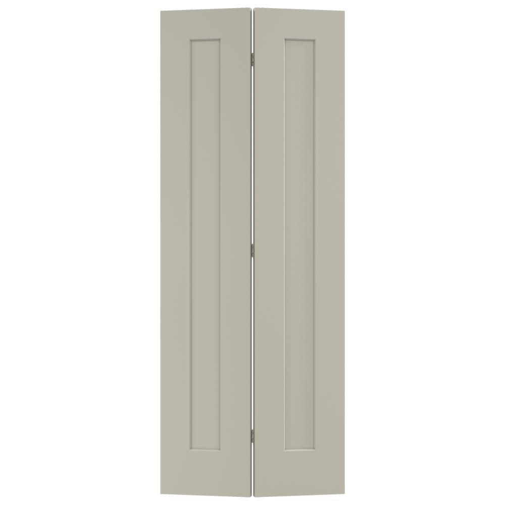 JELD-WEN 30 in. x 80 in. Madison Desert Sand Painted Smooth Molded Composite MDF Closet Bi-fold Door -  THDJW191200821