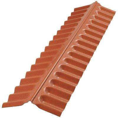 4 ft. Sedona Brick Polycarbonate Roof Panel Ridge Cap
